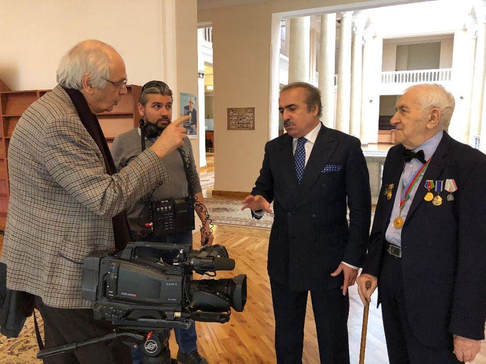 """""""Bakıxanovlar"""" filminin çəkilişlərində"""