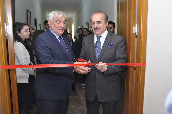 Opened an auditorium named after Ismikhan Rahimov at Azerbaijan University of Languages