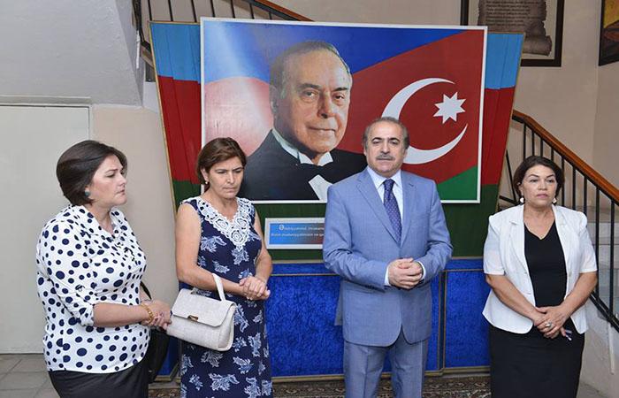 Academician Rafael Huseynov met with teachers of literature in Kurdamir