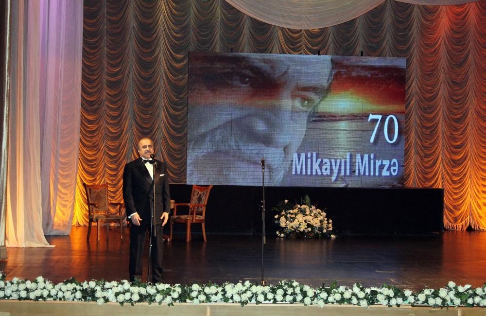 Xalq Artisti Mikayıl Mirzənin anadan olmasının 70 illiyi qeyd edilib