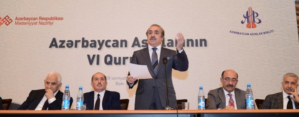 Azərbaycan Aşıqlar Birliyi VI Qurultayını keçirib