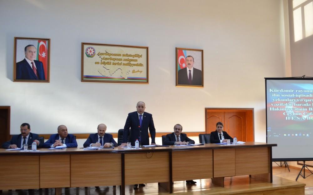 Kürdəmir: ümumi məhsul buraxılışının 39,9 faizi kənd təsərrüfatının payına düşüb